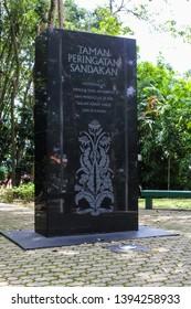Sandakan, Sabah, Malaysia, September 13, 2014 : The Sandakan Memorial Park is a memorial site built in the former grounds of the former Sandakan camp in the Malaysian state of Sabah.
