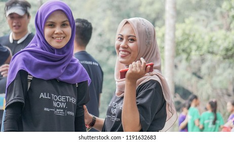 Sandakan Sabah, Malaysia - September 30, 2018 : Run To Give 7KM run. This run is organised yearly by FourPoint Hotel by Sheraton Sandakan for charity purposes.