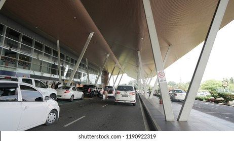 SANDAKAN, SABAH - SEPT 17, 2018 : Outside Building of Sandakan Airport Where it is a domestic airport which serves Sandakan, a town in the east Malaysian state of Sabah.