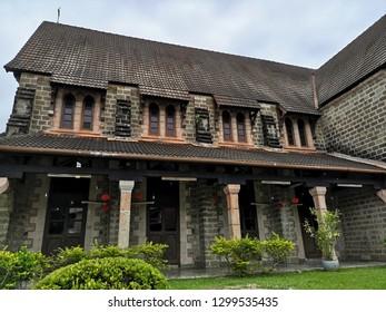 Sandakan,Sabah,Malaysia - 28 January 2019 : St. Michael's and All Angels Church (St. Michael) - Anglican church in Sandakan, Sabah.Malaysia.Borneo.