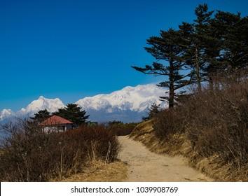 Sandakphu Trekking Trail, Sandakphu with Kanchenjunga View