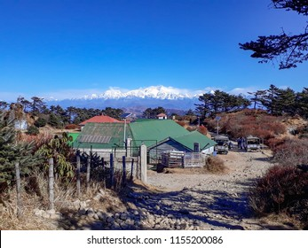 Sandakphu,West Bengal,India- December 26,2017:Sandakphu is highest point of west bengal. The view of Kangchenjunga from sandakphu.