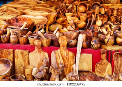 Sandalwood products in tunisian market, Sidi Bou Said, Tunisia.