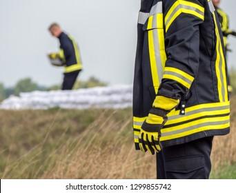 Sandbags Flood protection Fireman