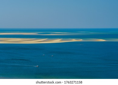 A sandbank in Arcachon Bay