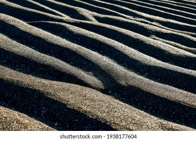 Sandbar pattern at Gwangchigi Beach, Seongsan-eup, Seogwipo-si, Jeju-do, Korea. - Shutterstock ID 1938177604