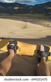 Sandboarding at Great Sand Dune National Park