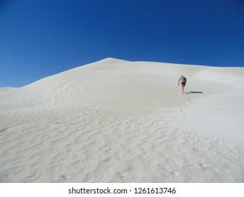 Sandboarding place at Lancelin, Western Australia