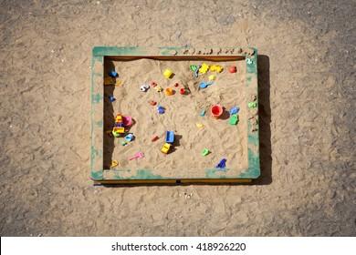 Sandbox. Top view