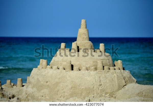 Sandcastle on the beach of Mallorca