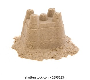 sandcastle on white