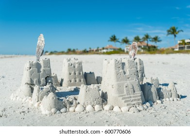 Sandcastles on Sanibel Island, Florida, USA