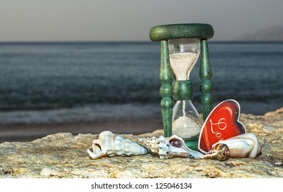 Sand-clock is a symbol of the ephemeral nature of life and time