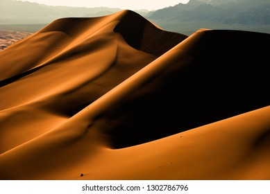 Sanddunes in the desert gobi in mongolia