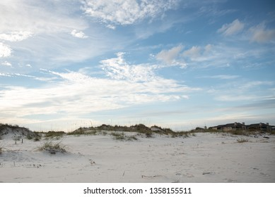 sanddunes at the ocean with open sky