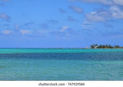 Sanders Beach in Nassau, Bahamas.