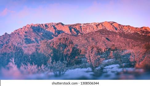 Sandia Mountains at Dusk