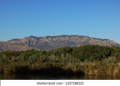 Sandia Mountains On The Rio Grande