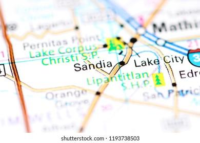 Sandia Texas Map Sandia Texas Usa On Map Stock Photo (Edit Now) 1193738503