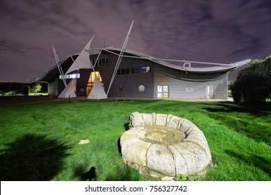 Sandown, Isle of Wight, United Kingdom - October 3rd 2017 : Dinosaur Isle in Sandown on the Isle of Wight is Britain's first purpose built dinosaur museum.