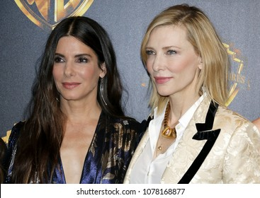 Sandra Bullock and Cate Blanchett at the 2018 CinemaCon - Warner Bros. Pictures 'The Big Picture' Presentation held at the Caesars Palace in Las Vegas, USA on April 24, 2018.