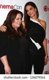 Sandra Bullock, Melissa McCarthy at the 20th Century Fox Press Event at CinemaCon 2013, Caesars Palace, Las Vegas, NV 04-18-13