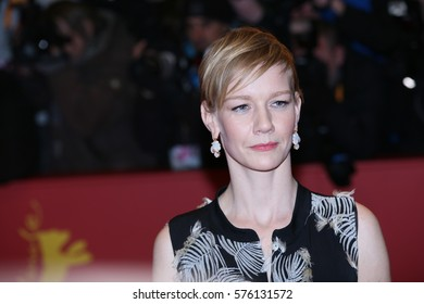 Sandra Huller ( Sandra Hüller, Sandra Hueller ) poses on the red carpet during opening ceremony of the 67th Berlinale  Film Festival at Grand Hyatt Hotel in Berlin, Germany on February 9, 2017.