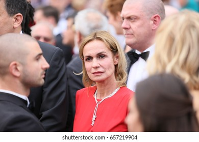 Sandrine Bonnaire attends 'Amant Double (L'Amant Double')' Red Carpet Arrivals during the 70th annual Cannes Film Festival at Palais des Festivals on May 26, 2017 in Cannes, France.