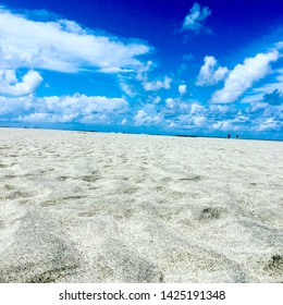 Sands and blue sky on brazilian beaches