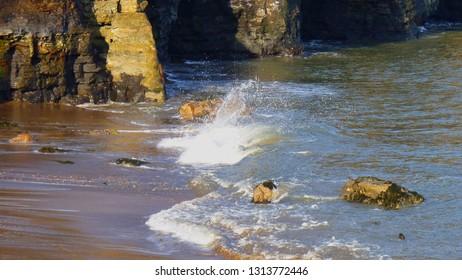 Sandsend Beach - lapping ocean