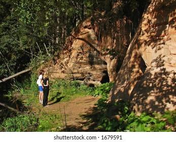 Sandstone caves