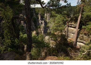 Sandstone in Europa, beautiful sommer Nature in Germany - Shutterstock ID 2020691942