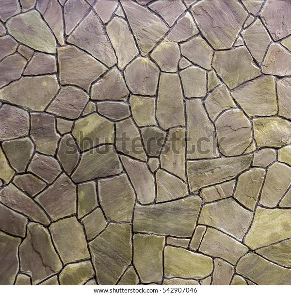 sandstone facing stone, decorative Stonewall texture close-up