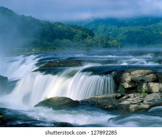 Sandstone Falls at sunrise West Virginia