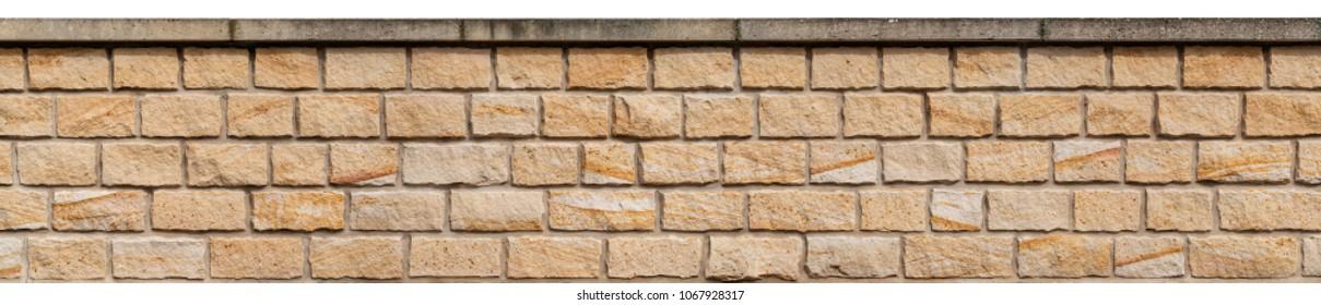 A sandstone garden wall