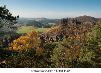 Sandstone landscape of the Czech-Saxon Switzerland