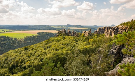 Sandstone mountains in Germany