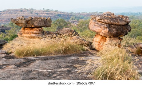 Sandstone Rock Formations on top of Ubirr Rock, Kakadu National Park, Northern Territory, Australia