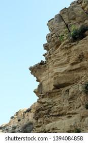 sandstone rock near Lopar, island Rab, Croatia