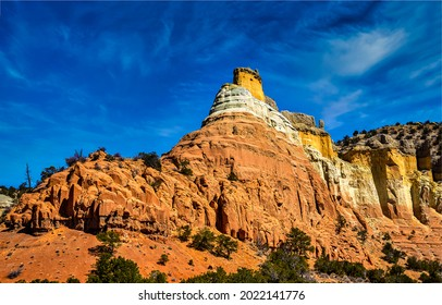 Sandstone rocks in the canyon. Sandstone mountains. Mountain sandstones view