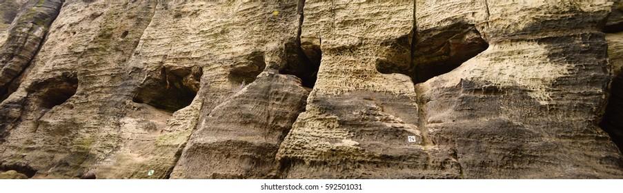 Sandstone rocks, Tisa, Czech Republic