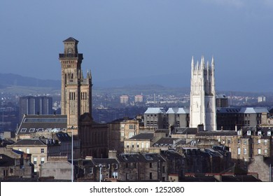 Sandstone towers in the West End of Glasgow