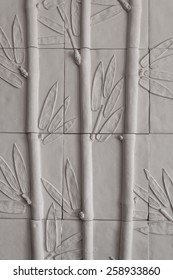 Sandstone wall bamboo tree pattern gray vertical
