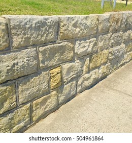 Sandstone Wall - Hard Landscaping Detail Feature (Sydney, Australia)