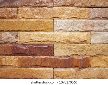 Sandstone wall texture and background.