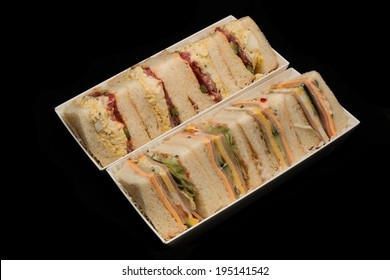 Sandwhiches isolated on black