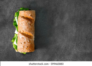 Sandwich with avocado and Chees Feta