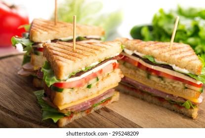 Sandwich, blt, ham.