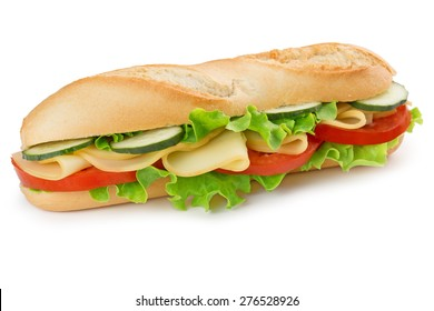 sandwich with cheese, tomato, cucumber and lettuce