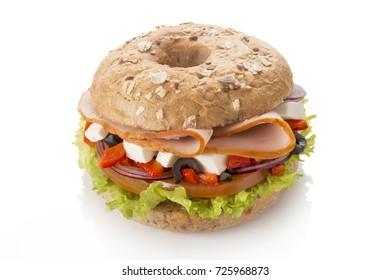 sandwich with Greek salad